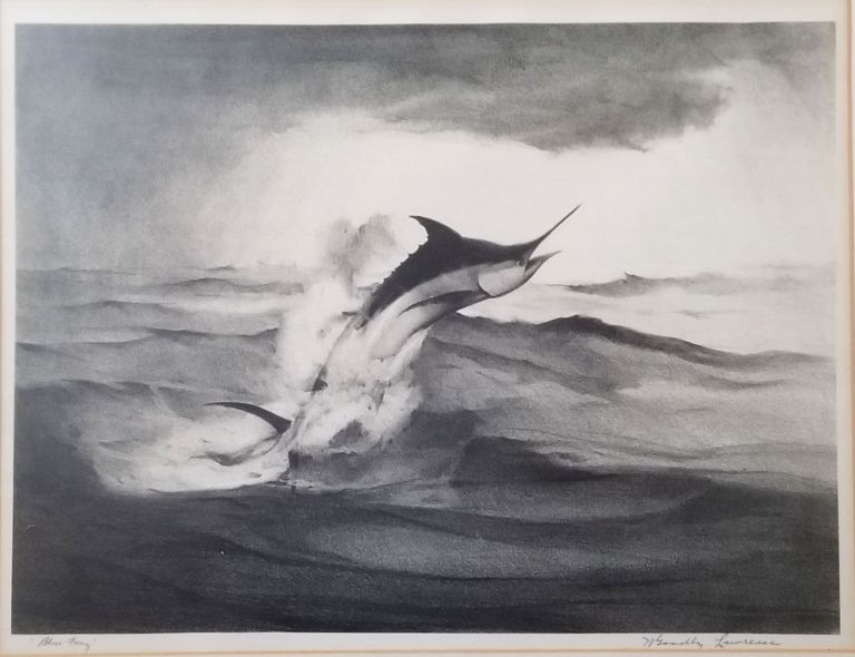 """""""Blue Fury"""". Signed lithograph. William Goadby Lawrence."""
