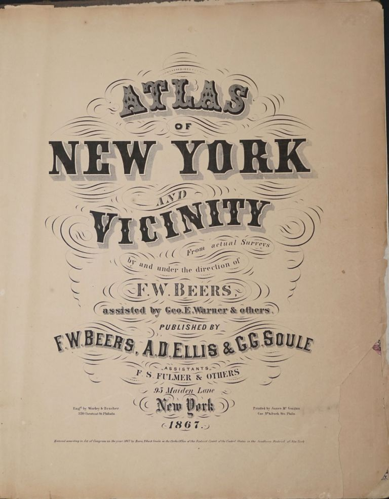 Atlas of New York and Vicinity. F. W. Beers.