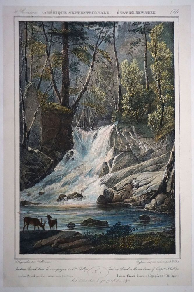 Indian Brook dans la campagne de Cpte Phillips. Indian Brook in the residence of Captn Phillips. NY; Jacques Milbert Garrison.