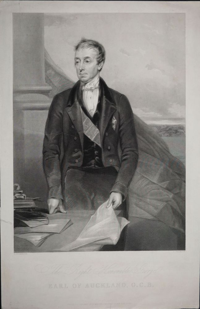 The Right Honorable George Earl of Auckland, G. C. B. portrait. George Eden, Earl of Auckland.