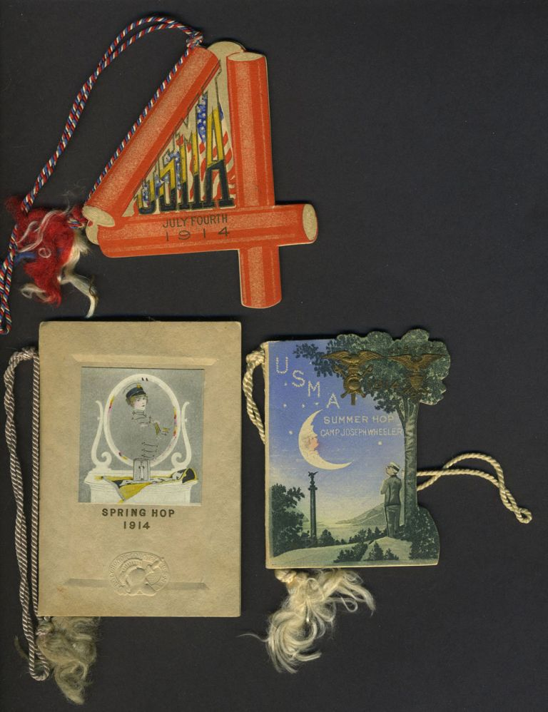 Collection of West Point Hop Cards once belonging to Ruth Hill and Ethel Hill, daughters of Manhattan Realtor Spencer Hill, with Notable Dance Partners such as Dwight D. Eisenhower. Dwight Eisenhower, West Point Dance Cards.