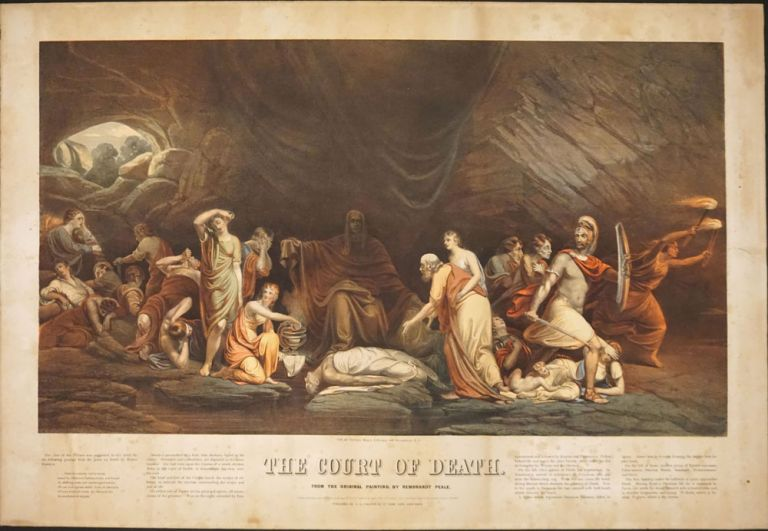 The Court of Death, From the Original Painting, by Rembrandt Peale. Chromolithograph. Rembrandt Peale.