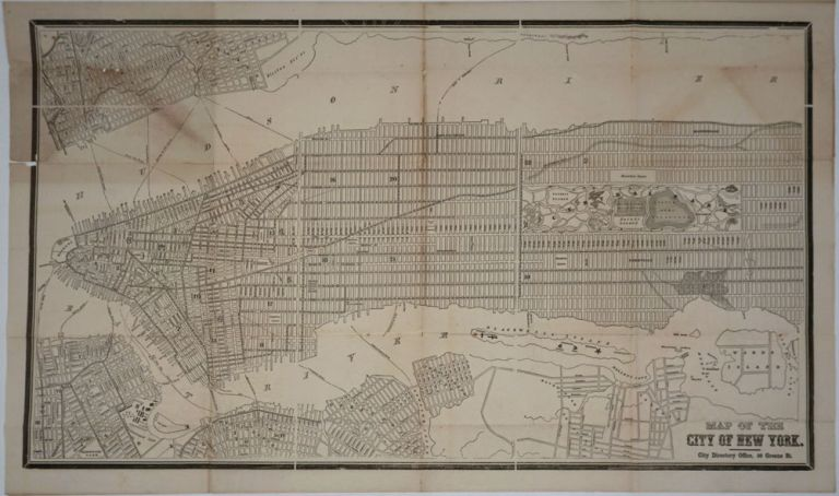 Map of the City of New York. New York City.