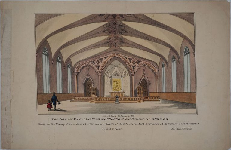 The Interior View of the Floating Church of Our Saviour for Seamen, NY. H. A. O. Ficht.