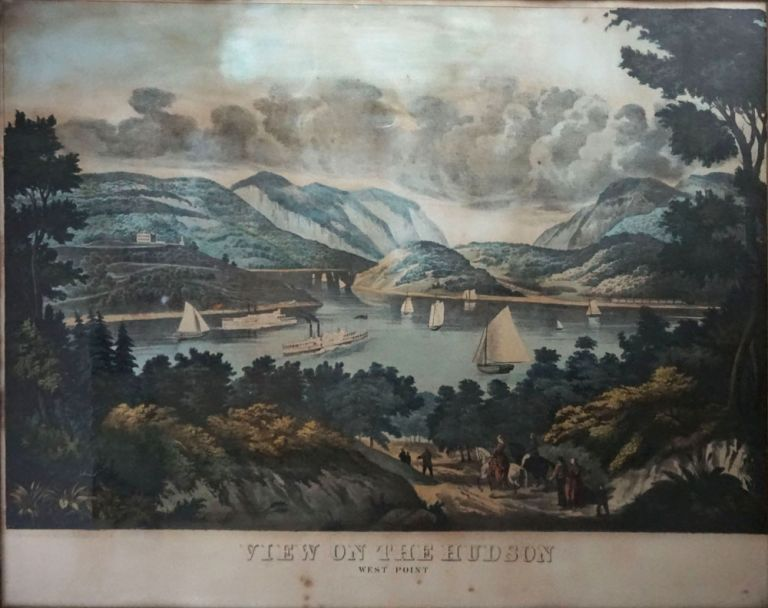 View on the Hudson: West Point. engraver Robertson.