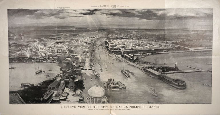 Bird's-eye view of the City of Manila, Philippine Islands. G. W. Peters.