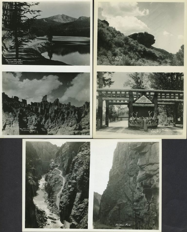 """""""A Collection of Choice Views of the Cody Road to Yellowstone Park"""". 12 sheets with 24 real photographs of Yellowstone Park. F. J. Hiscock."""