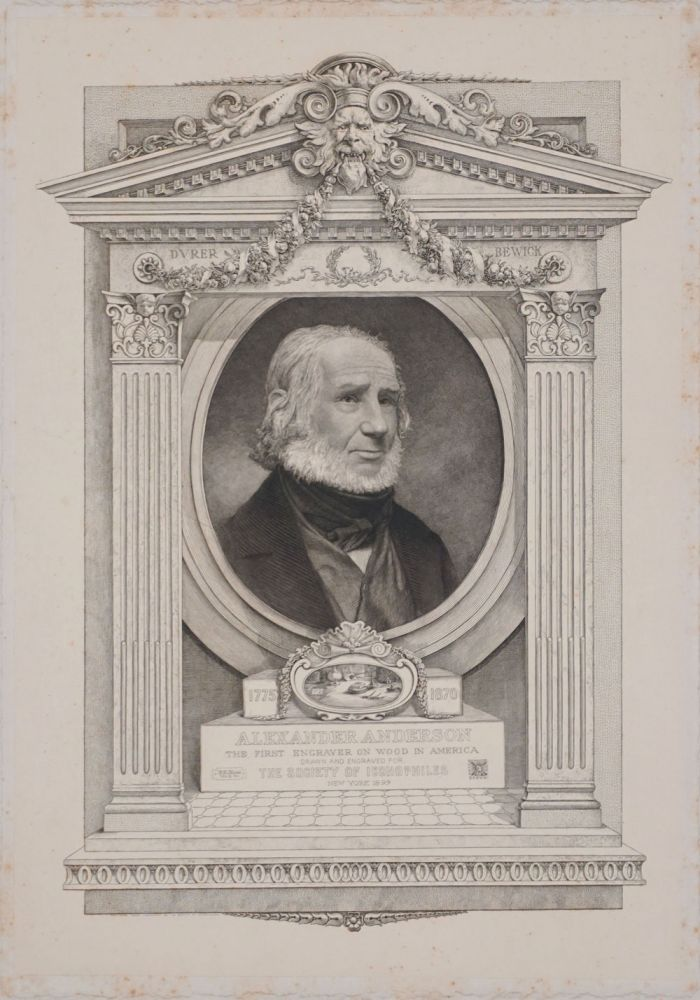 Alexander Anderson, The First Engraver on Wood in America. Engraved portrait. Society of Iconophiles.