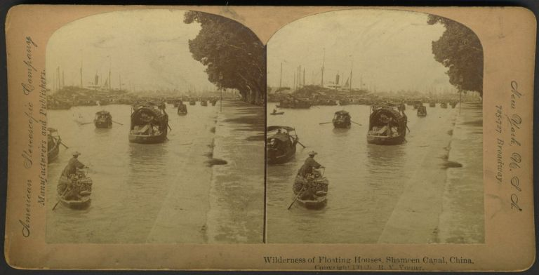 Canton: American Stereoscopic Company view of Canton. China, Photography.