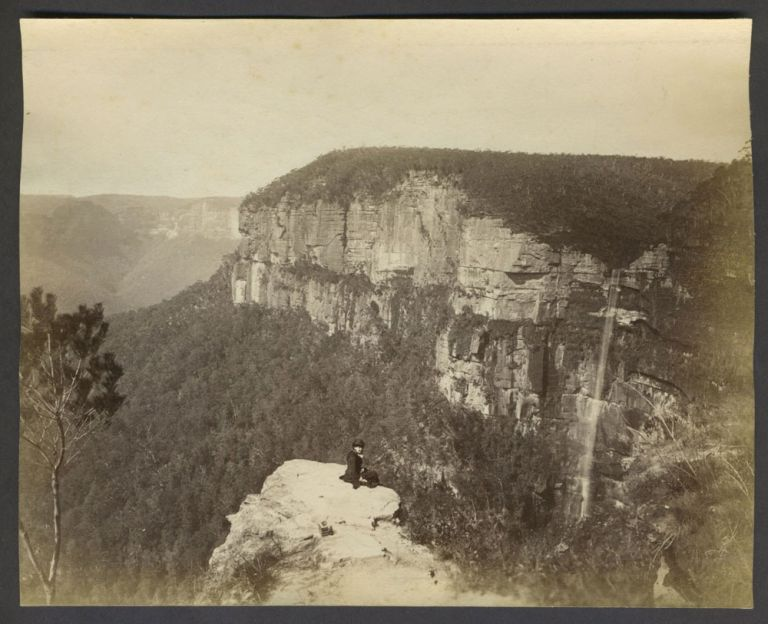 Govetts Leap, Blue Mountains, New South Wales. Albumen photograph. Australia, Photography.