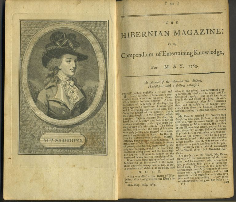 Emigration to America, in Walker's Hibernian Magazine, or Compendium of Entertaining Knowledge for May, 1783.