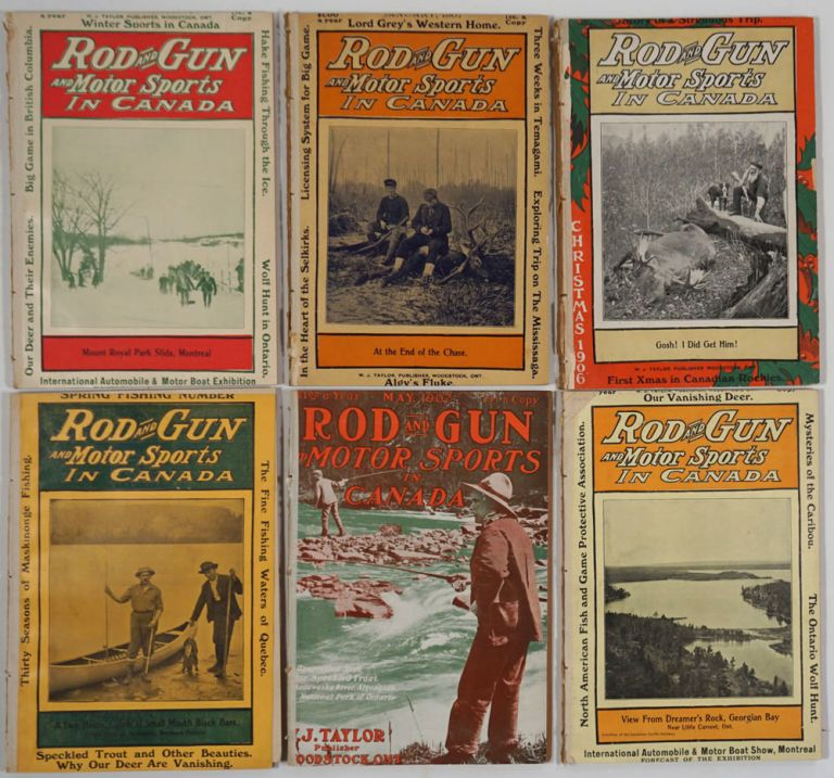 Rod and Gun and Motor Sports in Canada. 6 issues.