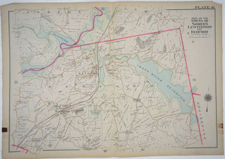 Part of the Towns of Somers, Lewisboro and Bedford. George W. Bromley, Walter S.