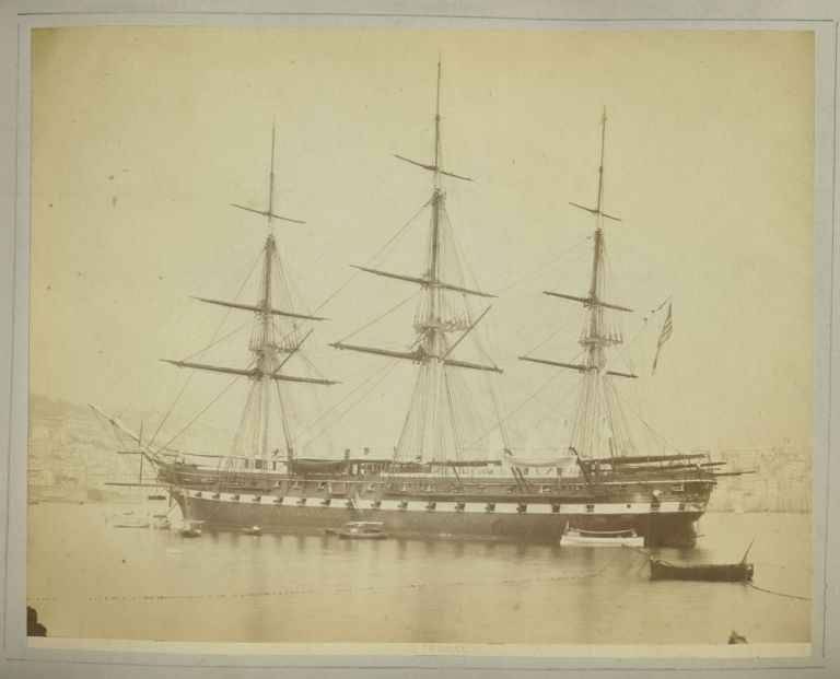 Il Franklin - photograph of the American Schooner USS Franklin. U S. Navy, Photography.
