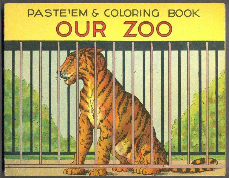 Paste'Em & Coloring Book, Our Zoo, No. 27. Childrens.