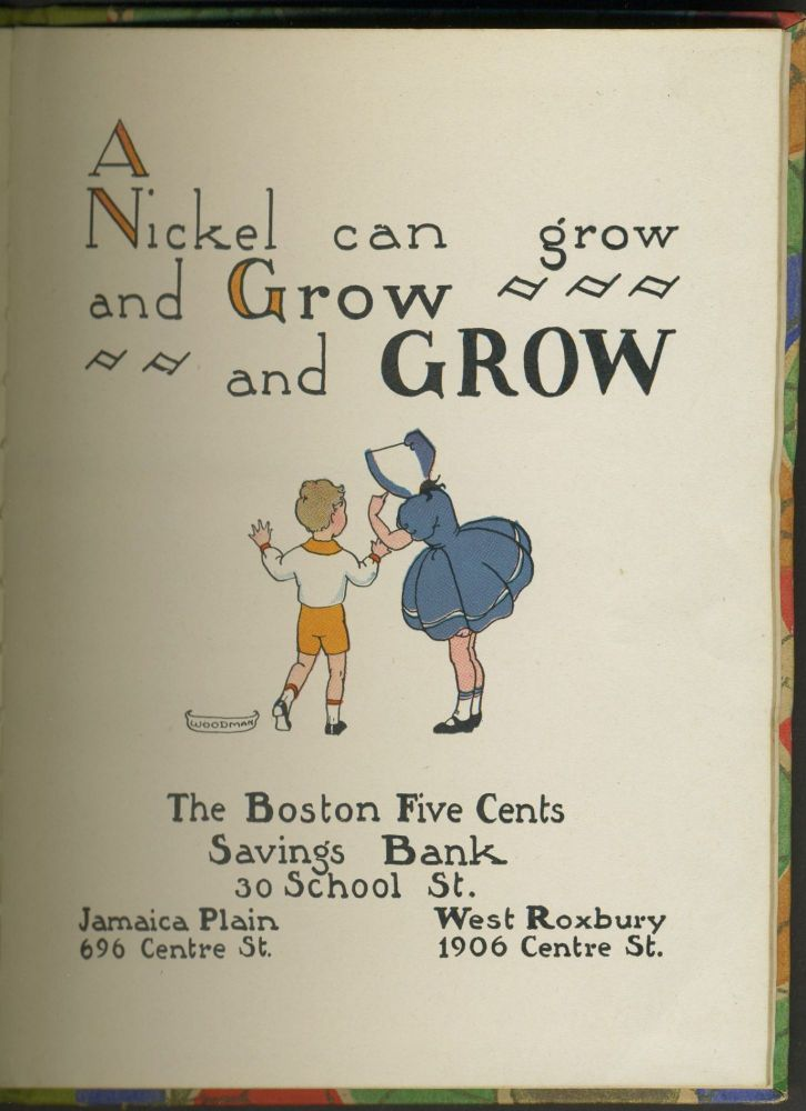 A Nickel Can Grow and Grow and Grow. Banking, Childrens.