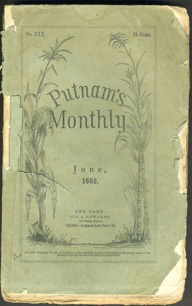 """Australiana, The Campbell Town Election"", concerning the upcoming election & controversy over convictism in Van Diemen's Land. Putnam's Monthly. A Magazine of Literature, Science, and Art. June 1855. Tasmania, Convicts."