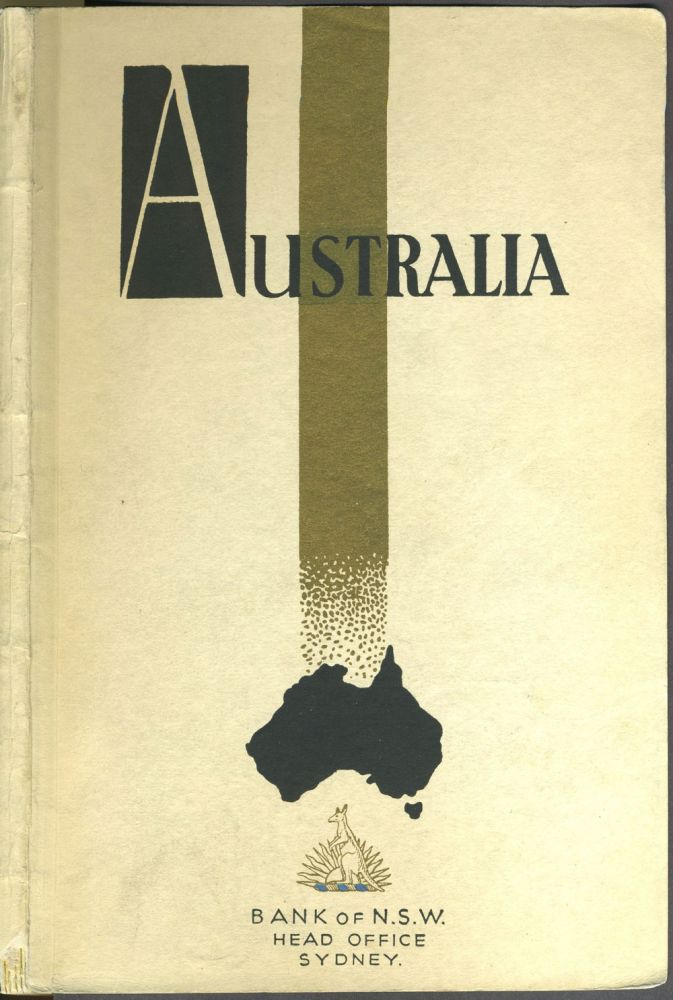 Australia; Travel in Australia. Brochure. Head Office Travel Dept., Bank of New South Wales.