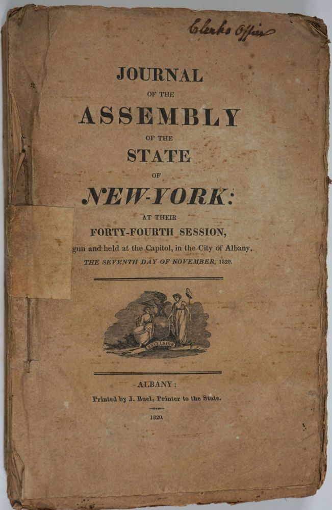 Journal of the Assembly of the State of New-York, at Their Forty- Fourth Session (1820-1821).
