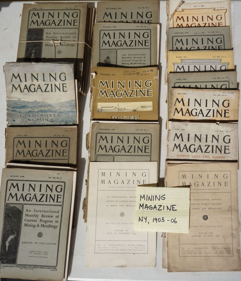 Mining Magazine; an international monthly review of current progress in mining and metallurgy.