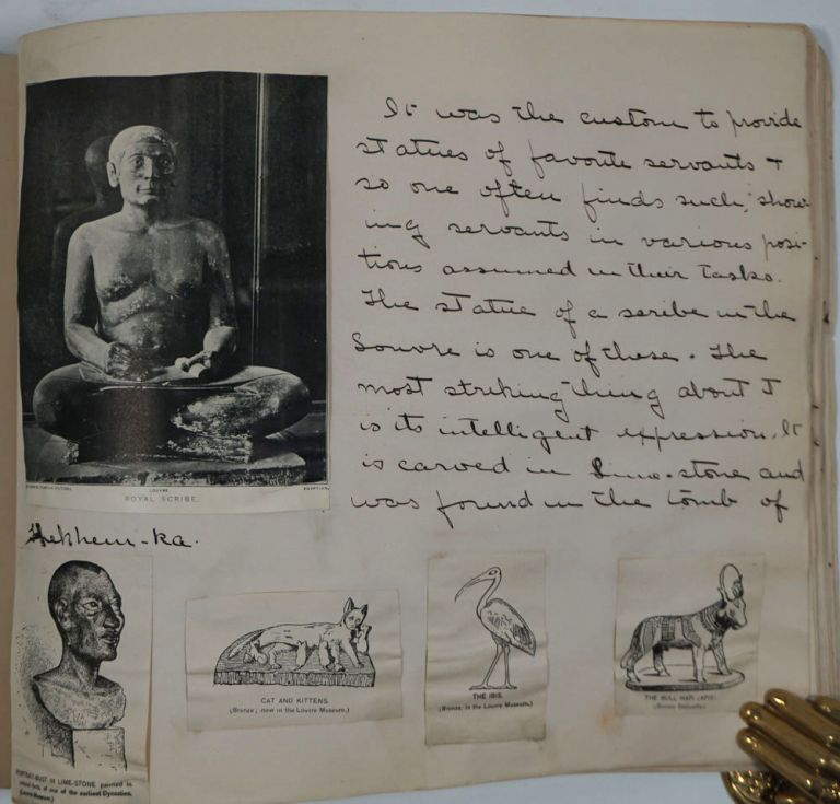 Ancient Egyptian art album, with annotations throughout. Susan E. Goelet Drake.