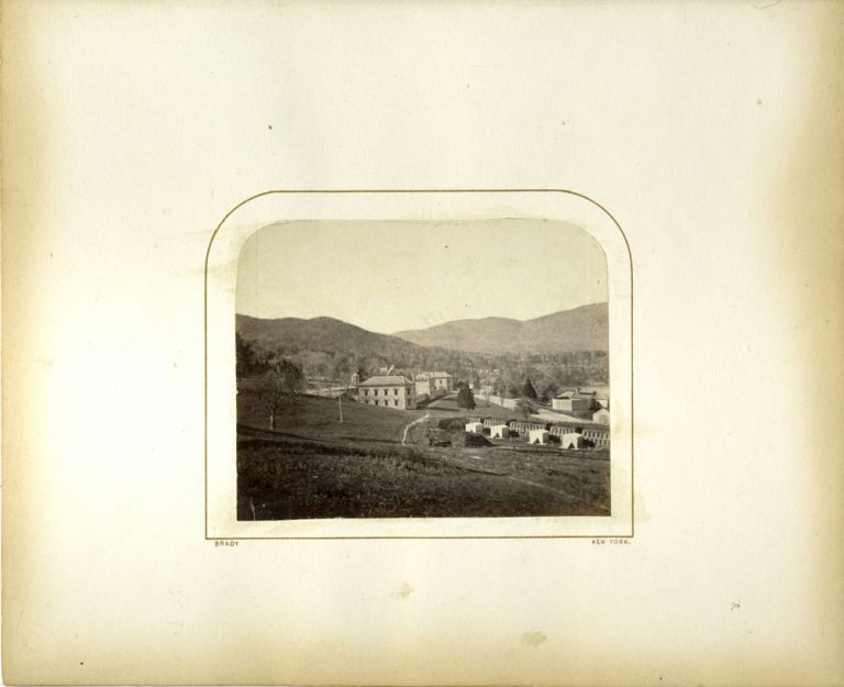 Signed photograph of West Point: embankment looking northeast. Mathew B. Brady, West Point, Photography.