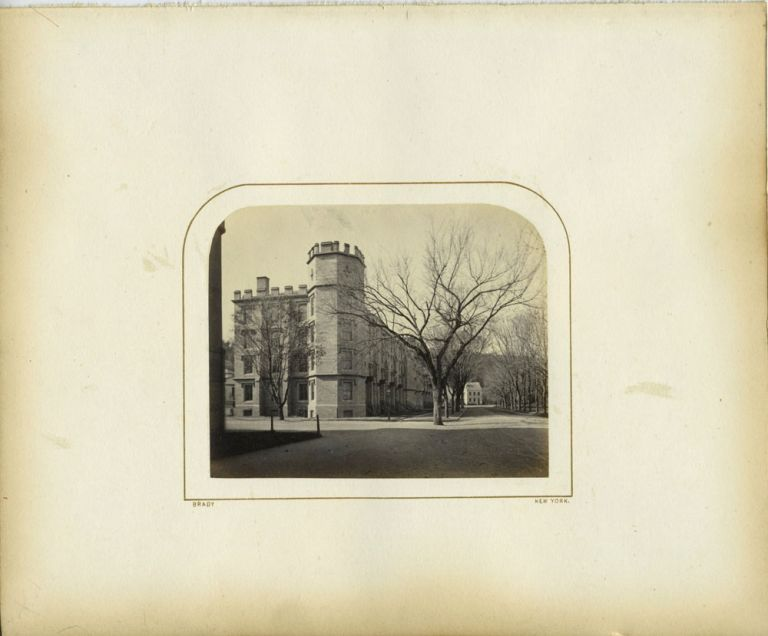 Signed photograph of West Point: North front of barracks. Mathew B. Brady, West Point, Photography.
