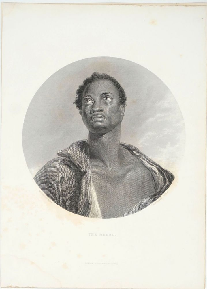 The Negro, engraving with text. W. Simpson, Sculpt W. Hulland.