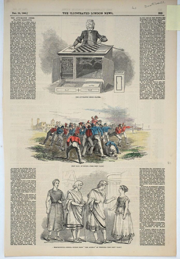 A collection of 49 antique Rugby prints, 1845 - 1931. Rugby.