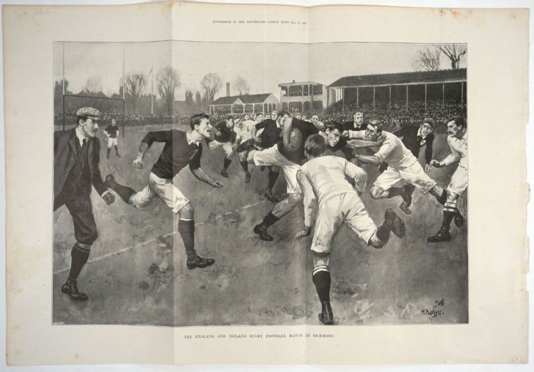 The England and Ireland Rugby- Football Match at Richmond. Rugby, H. Burgess.