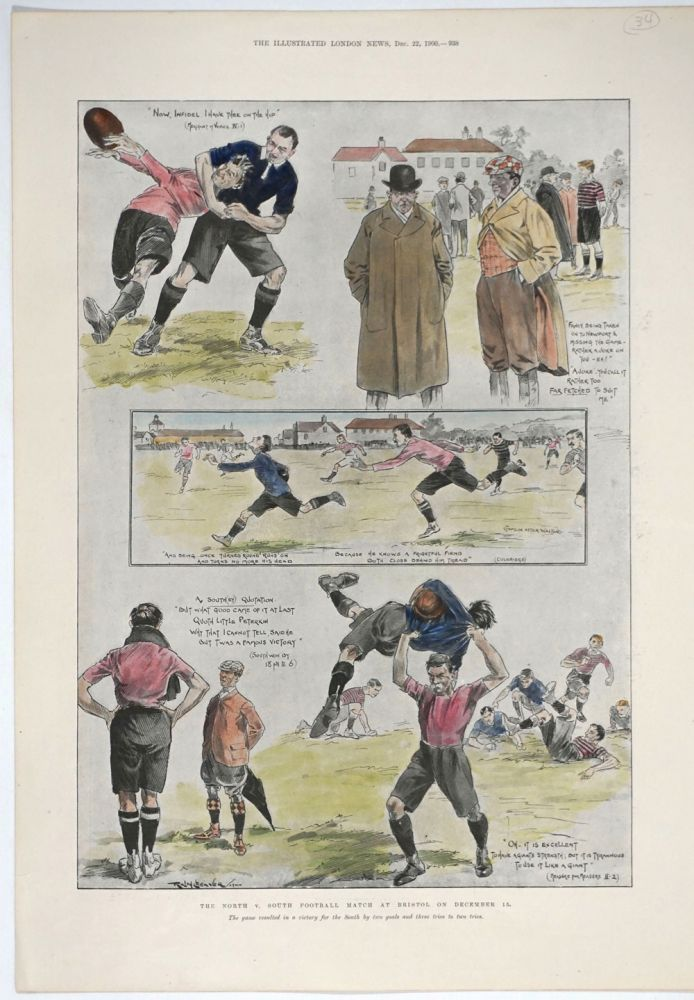 The North v. South Football Match at Bristol on December 15. Rugby, R. Cleaver.