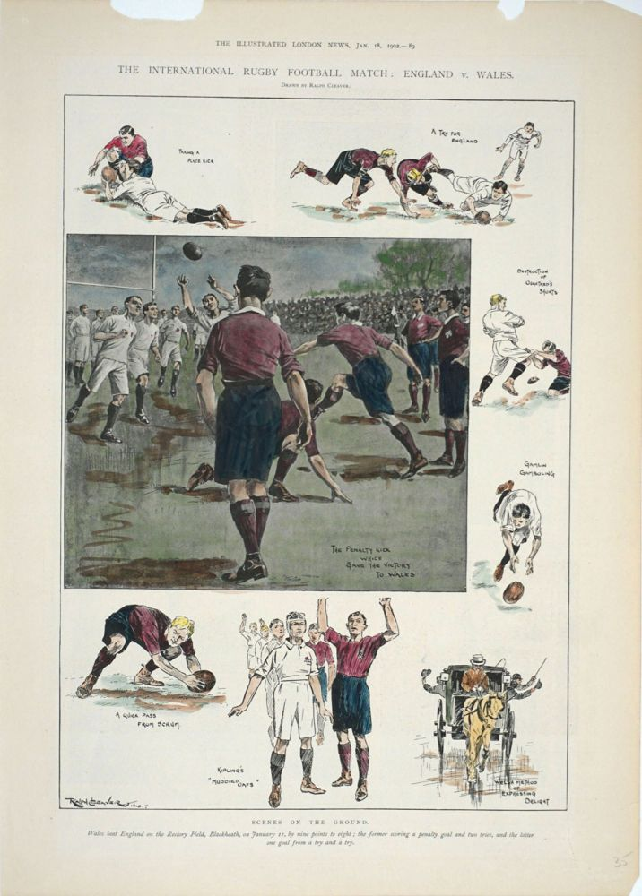 International Rugby Football Match: England v. Wales; Scenes on the Ground. Rugby, Ralph Cleaver.
