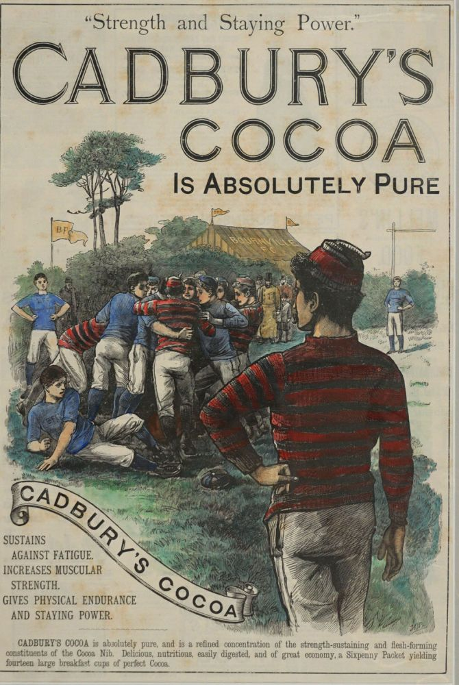 Cadbury's Cocoa, full page advertisement. Rugby, J B. B.