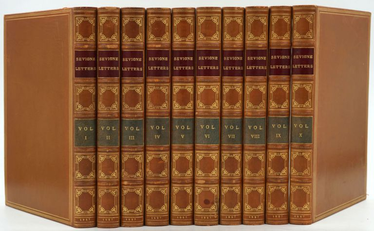 Letters From the Marchioness de Sevigne to Her Daughter the Countess de Grignan. 10 Volume set signed binding by Birdsall. Marchioness De Sevigne.
