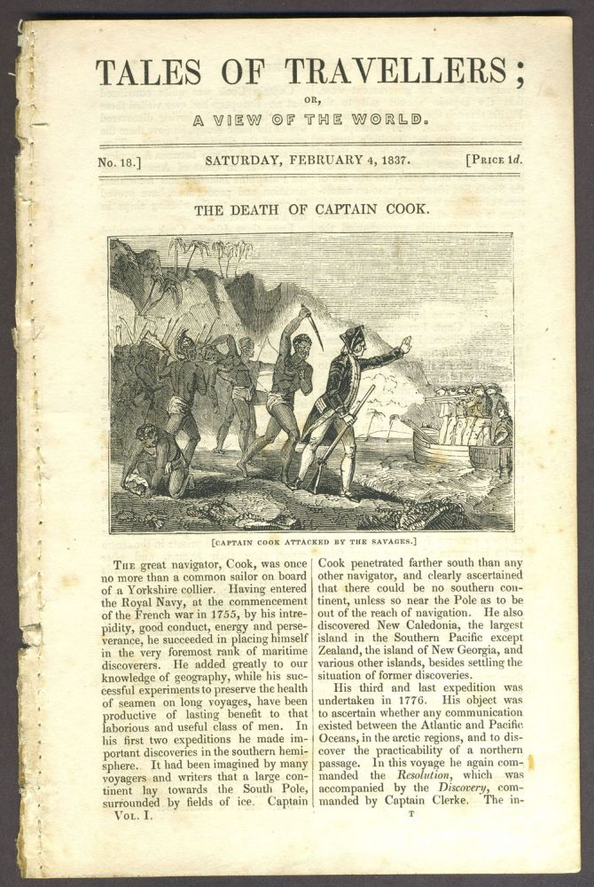 """The Death of Captain Cook"", in Tales of Travellers; Or, a View of the World. James Cook."