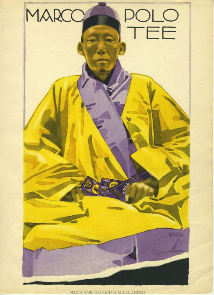 Marco Polo Tee. Color lithograph. Ludwig Hohlwein.
