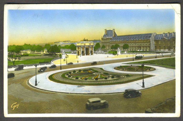 Postcard of Paris posted in Munich with a Nazi postmark, with possible 1936 Olympics connection. Olympics, Nazi postmark.