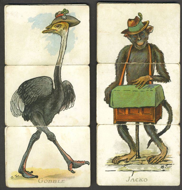 [Animal Misfitz card game] card matching game with several Australian related images. George Lambert, C. W. Faulkner, Co.