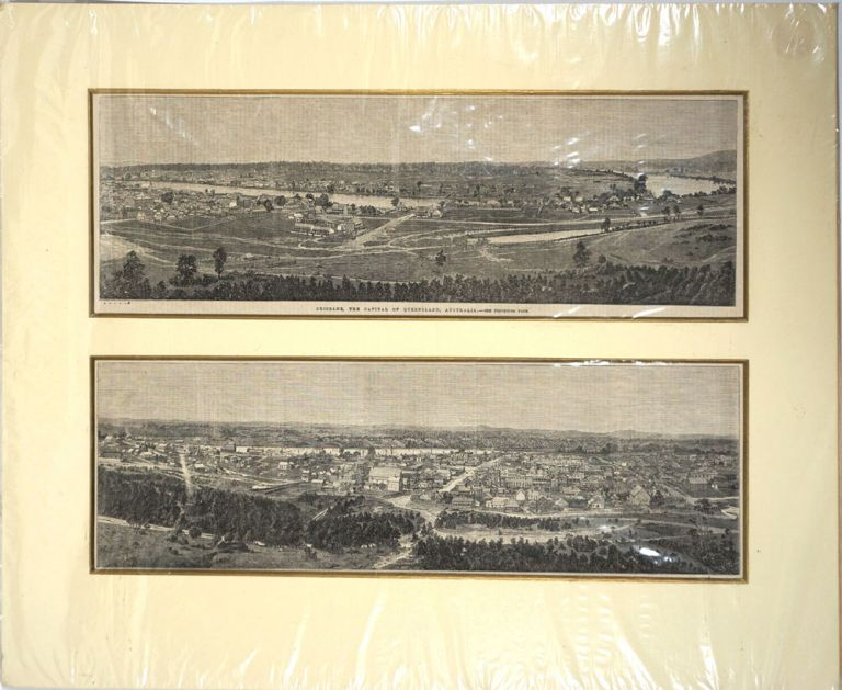 Brisbane, the capital of Queensland, Australia. Queensland, Print.