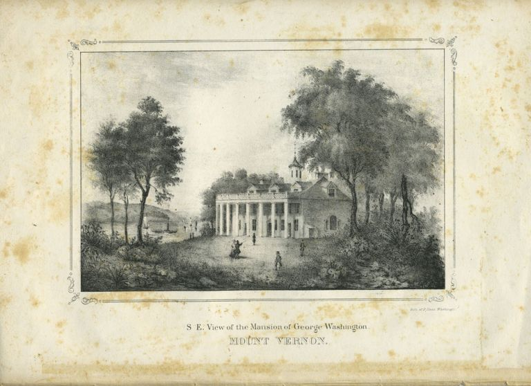 S. E. View of the Mansion of George Washington, Mount Vernon. Lithograph. Philip Haas, after Washington Hood.