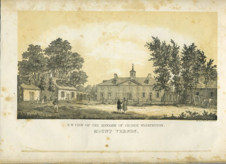 N. W. View of the Mansion of George Washington, Mount Vernon. Lithograph. Philip Haas, after Washington Hood.