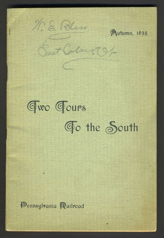 Pennsylvania Railroad Tours to the South. Travel brochure.