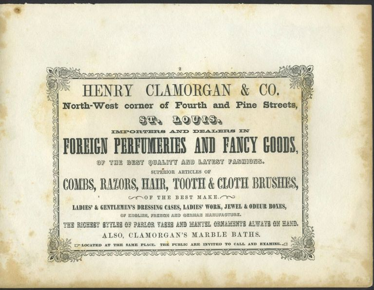 Foreign Perfumery and Fancy Goods, Henry Clamorgan & Co., St. Louis. Trade handbill.