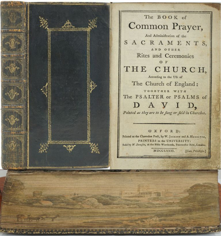 The Book of Common Prayer, And Administration of the Sacraments, and other Rites and Ceremonies of the Church, According to the Use of the Church of England: Together with The Psalter or Psalms of David, Pointed as they are to be Sung or Said in Churches. Foredge Painting, Genealogy.