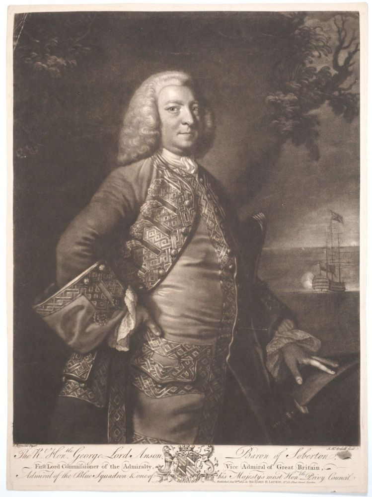 George Lord Anson, Baron of Soberton, First Lord Commissioner of the Admiralty, Vice Admiral of Great Britain. George Anson, Sir Joshua Reynolds.