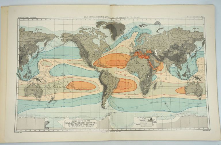 Report on Oceanic Circulation, a Summary of the Scientific Results (Physics & Chemistry Part viii) made on board H. M. S. Challenger 1872 - 1876. Alex Buchan, Challenger Expedition.