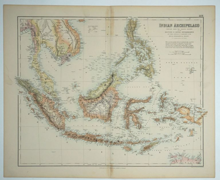 Indian Archipelago compiled from the various surveys of the British & Dutch Governments. J. Junr Bartholomew.