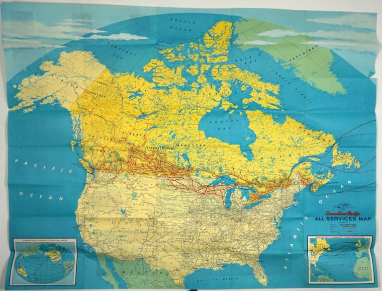 Canadian Pacific All Services Map. Canada, Railroad.