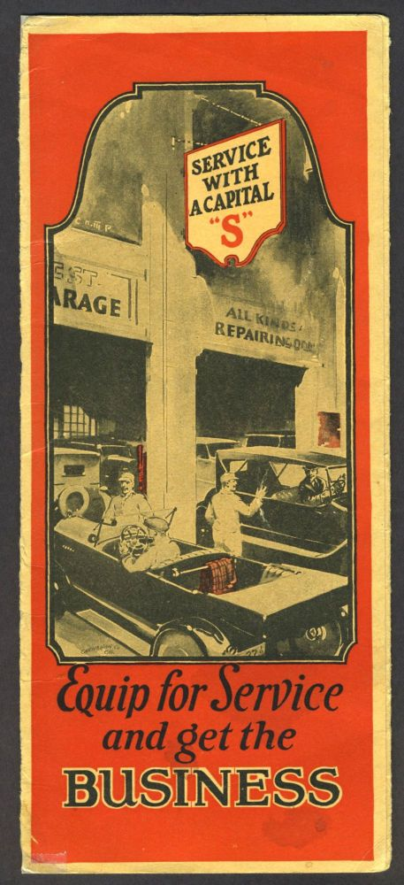 Louden Overhead Carrying System for Garages and Service Stations, pamphlet. Automobile Repair, Louden Machinery Company.