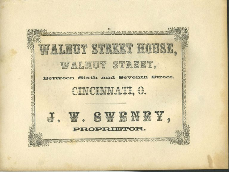 American Commercial Advertising - Walnut Street House.